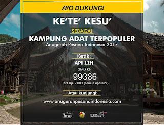 Ke'te' Kesu' di Anugerah Pesona Indonesia 2017