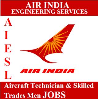 Air India Engineering Service Limited, AIESL, Air India Limited, ITI, Aircraft Technician, Tradesman, freejobalert, Sarkari Naukri, Latest Jobs, aiesl logo