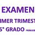 EXAMEN PRIMER TRIMESTRE 5° PRIMARIA CICLO ESCOLAR 2018-2019.