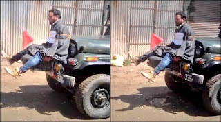The omar Abdullah tweet of kashmiri jeep video