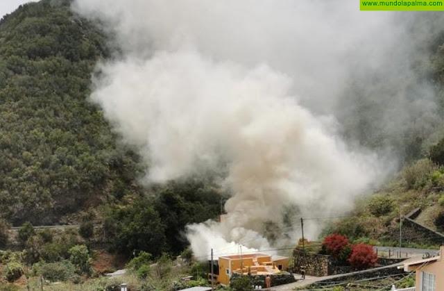 Sofocado ayer un incendio en una vivienda de Breña Baja