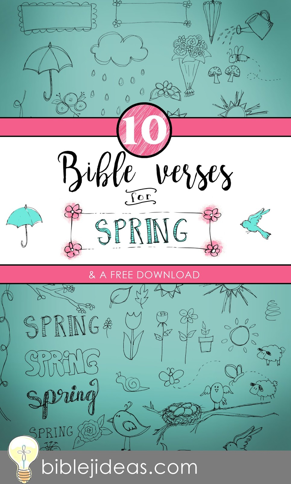Bible Journaling Ideas: 10 Bible Verses for Spring