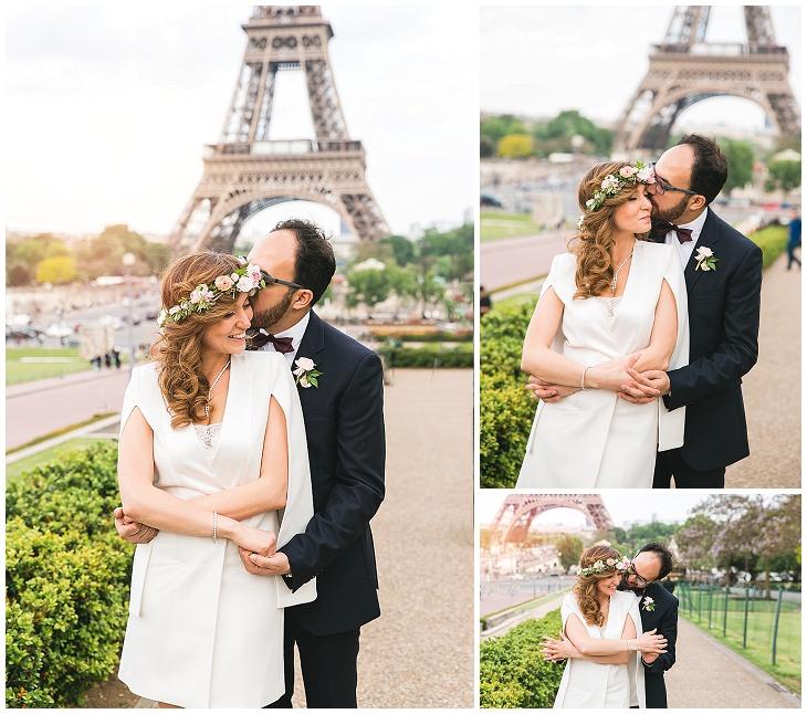 photographe mariage paris tour eiffel robe mairie