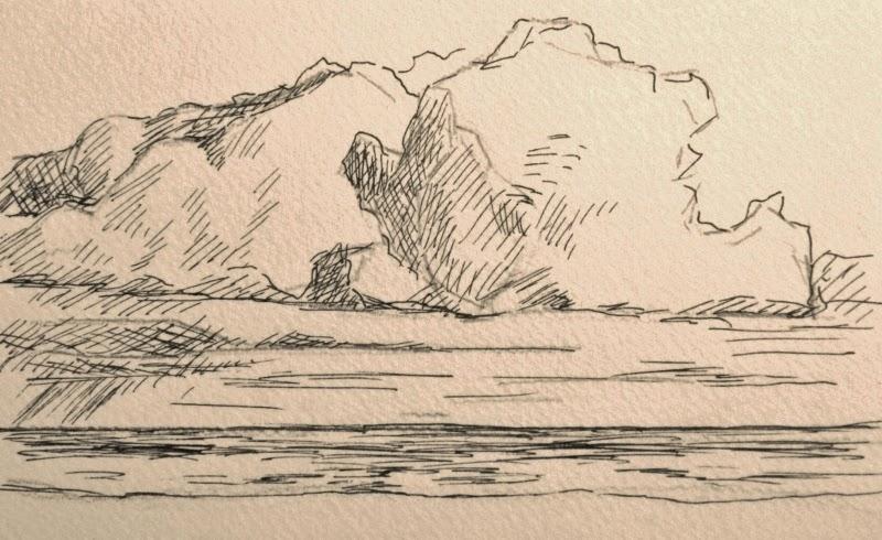 wolkenstudie, wolken tekenen, Paula Hondsmerk Art,