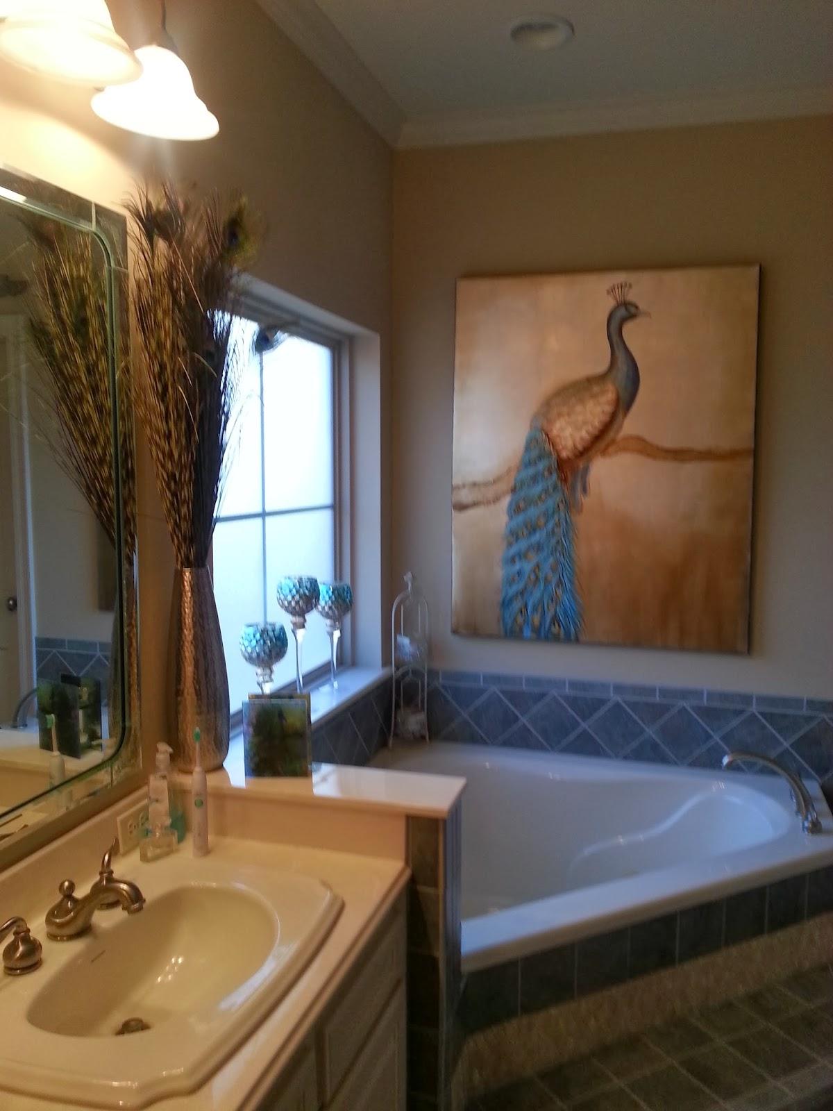 Peacock Bathroom Wall