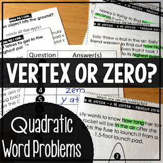 Quadratic Keywords Sorting Activity