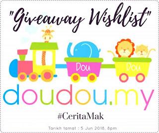Giveaway DouDou.my X #CeritaMak