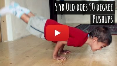 Watch how an Incredible 5 year Old Boy, Claudio Stroe does 90 Degree Pushups with ease via geniushowto.blogspot.com Incredible sports videos