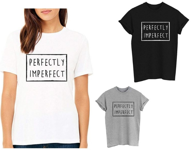 Camiseta de Perfecty Imperfect, comprada en Amazon