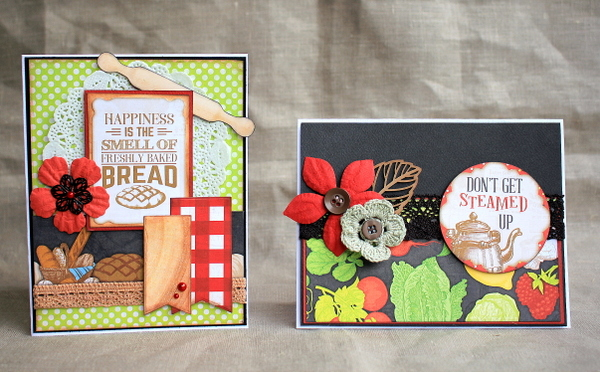 Don't Get Steamed Up Cards by Ulrika Wandler using Family Recipes Collection
