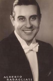 Alberto Rabagliati won a contest as  a Rudolph Valentino lookalike