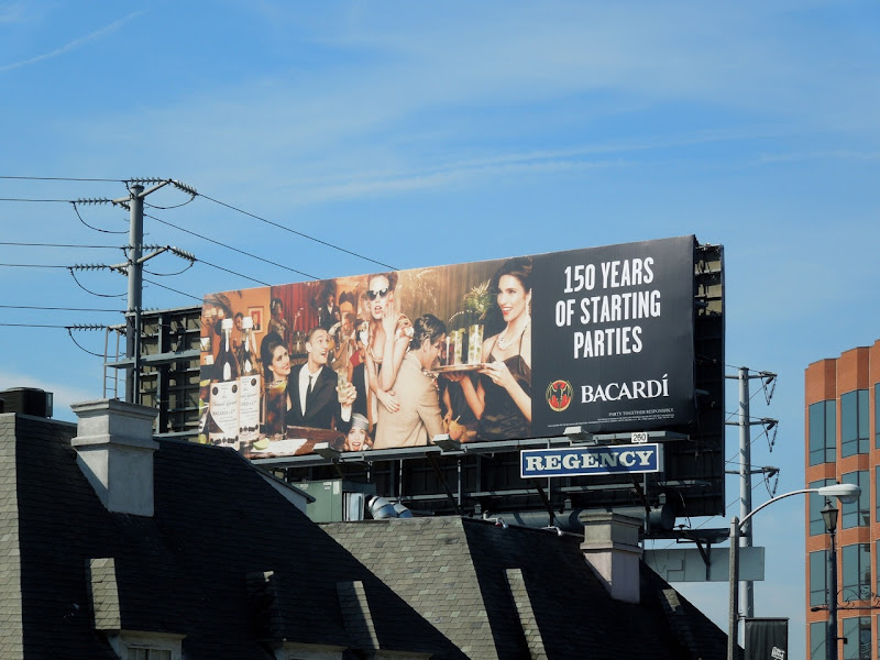 Bacardi 150 years parties billboard