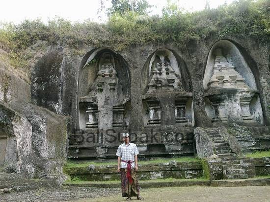 Visits to attractions of Candi Gunung Kawi in Gianyar