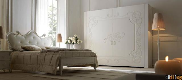 Mobila italiana stil clasic de lux - Mobila dormitor Italia | Pat - tapitat - de - lux - Italia.