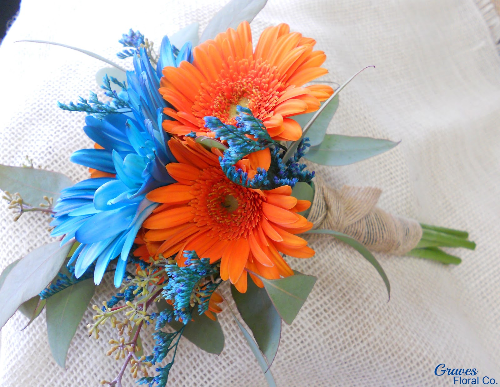 Graves Floral Co.: 2012 Weddings: Turquoise & Orange