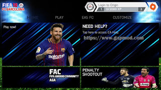 FIFA 14 Up 18 FCB v0.0.0 by aGa Apk + Obb