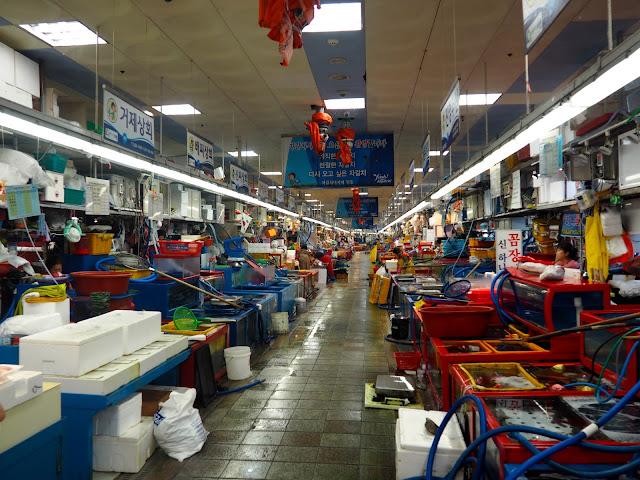 Jagalchi seafood market, Nampo-dong, Busan, South Korea