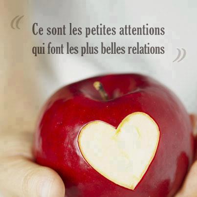 Citations et Panneaux Facebook à partager: Pomme damour avec un ...