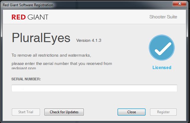 pluraleyes 4.1 4 serial number