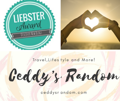 Liebster Award 2018 Nomination - Ceddy's Random
