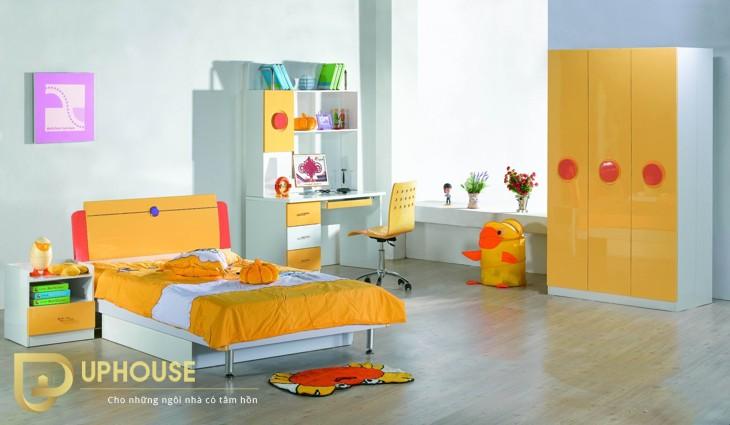 Phòng ngủ màu vàng kem 09