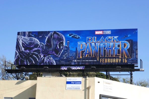 Marvel Black Panther movie billboard