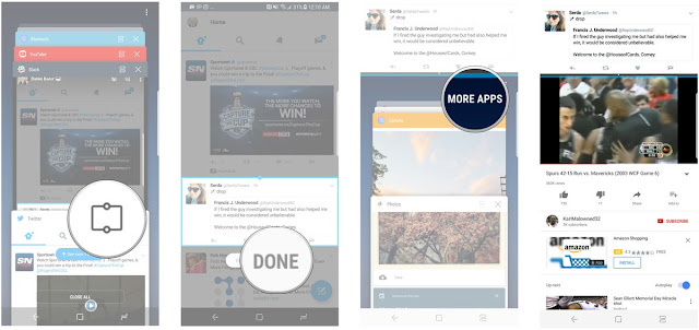 cara menggunakan Snap Window Galaxy S8