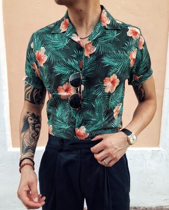 Macho Moda - Blog de Moda Masculina  CAMISA FLORAL MASCULINA  18 ... 483ae39d7d07f