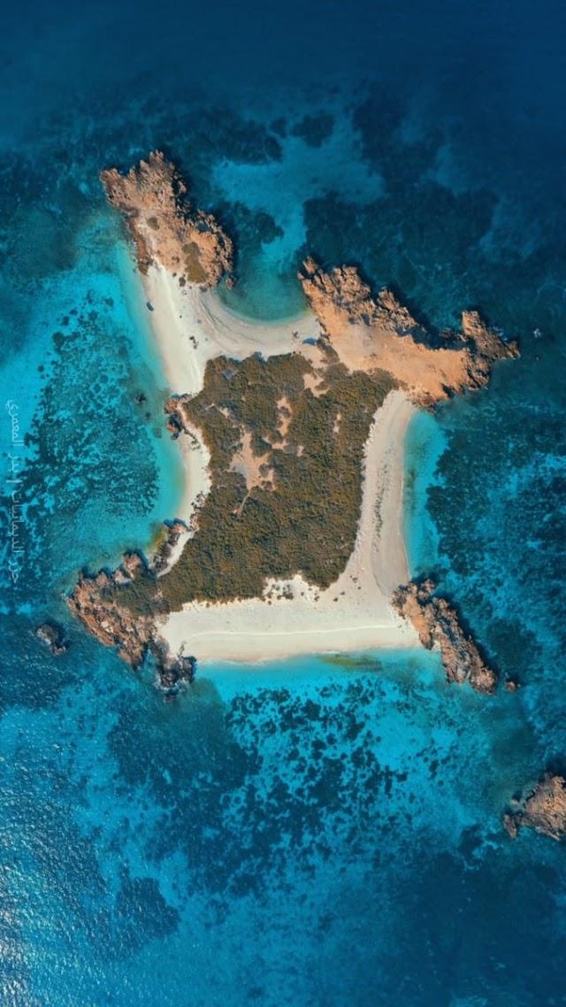 بعض الصور الجوية #لـ جزر الديمانيات سلطنة عمان