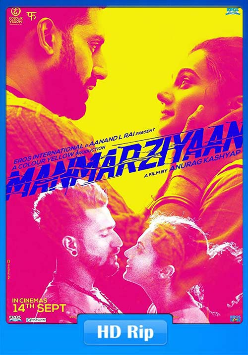 Manmarziyaan 2018 Hindi 720p HDRip x264 | 480p 300MB | 100MB HEVC Poster