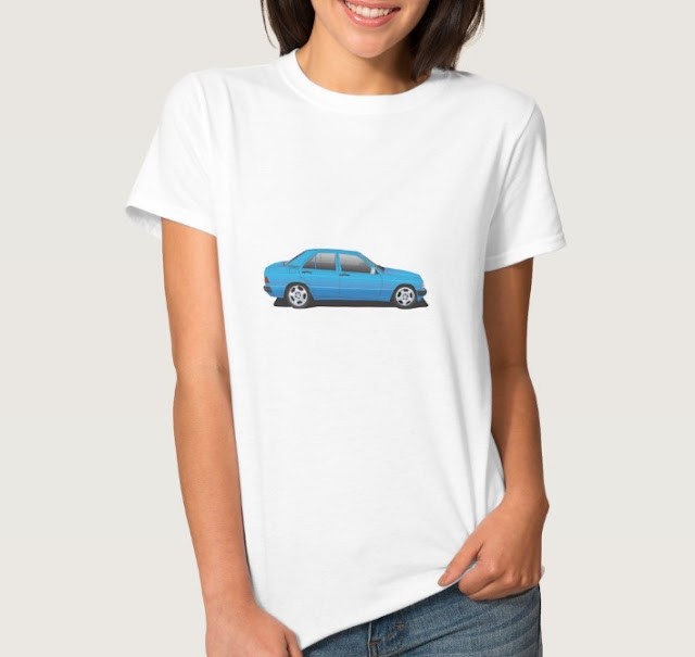 Mercedes-Benz W201 t-shirts