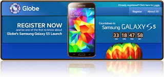 Globe offer Samsung S5