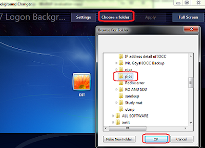 Change Log On Screen Background Image on Windows 7