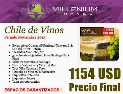 Paquetes de viajes Ecuador Chile todo incluido