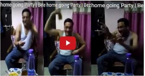 Hilarious Video ! See how a husband reacted when his wife visited her maayka