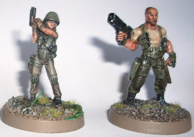 Mckenzie and Grant from Hasslefree miniatures