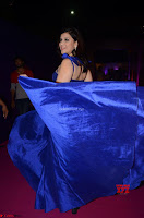 Mannara Chopra in Deep Neck Blue Gown at Zee Telugu Apsara Awards ~  Exclusive 011.jpg
