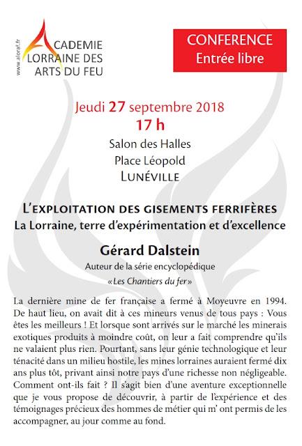 Aloraf-Conference 27 sept 2018 - Gisement de fer en Lorraine