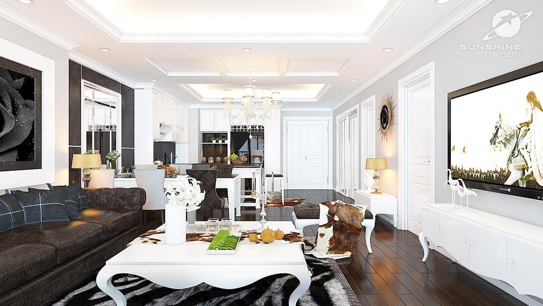 Căn hộ thiết kế mang phong cách Tân cổ điển tại chung cư Sunshine City