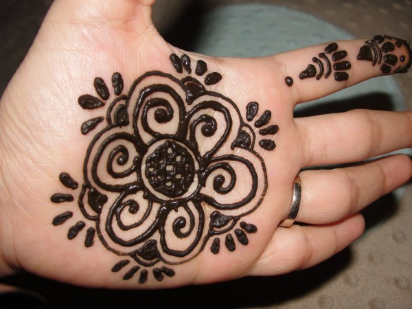 Easy Palm Mehndi Designs For Woman