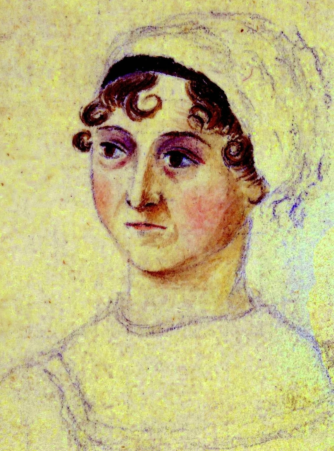 Picture of Jane Austen, by Cassandra Austen