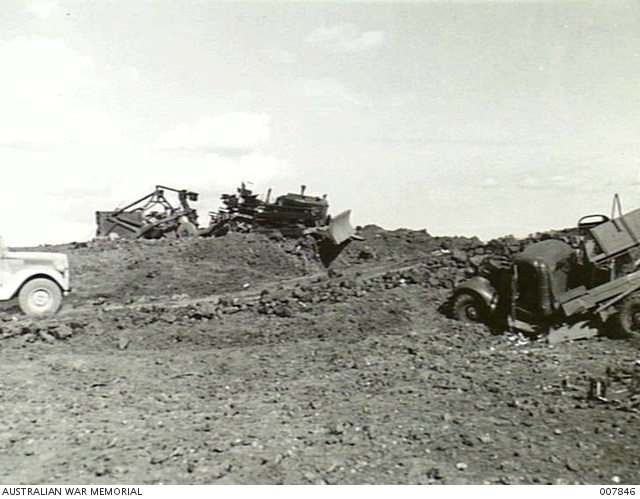 18 April 1941 worldwartwo.filminspector.com bomb damage Greece Australian trucks