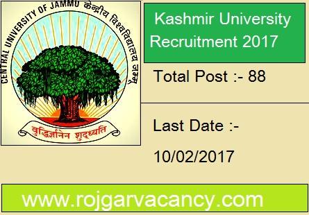 88-professor-kashmir-university-Kashmir-University-Recruitment-2017