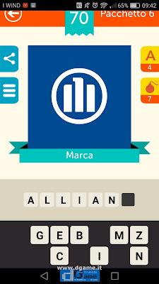 Iconica Italia Pop Logo Quiz soluzione pacchetto 6 livelli 70-100