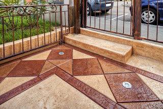 stamped concrete patio design
