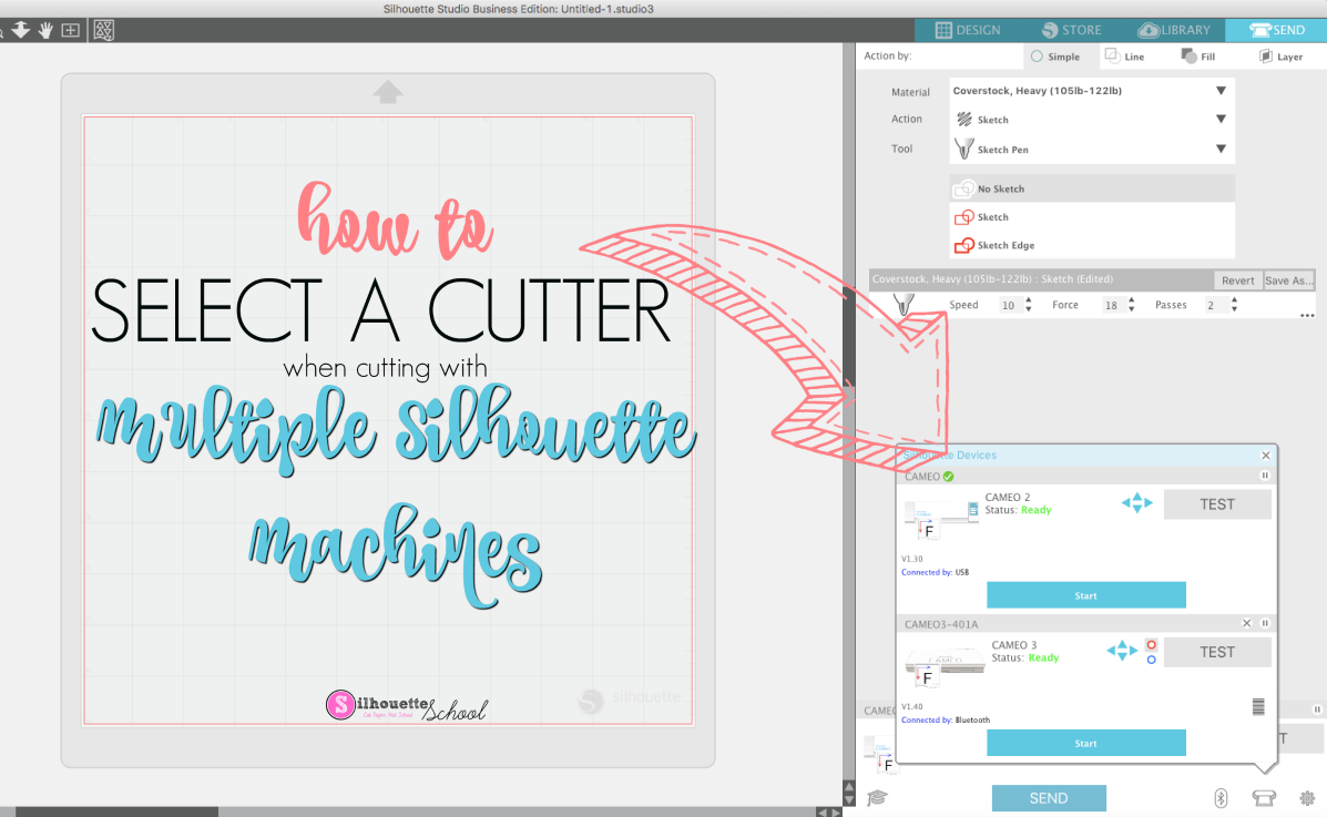 Cutting With Two Silhouette Machines With Silhouette Studio V4 Silhouette School