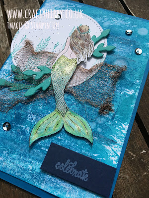 Make a Magical Mermaid card using the Magical Mermaid stamp set by Stampin' Up!