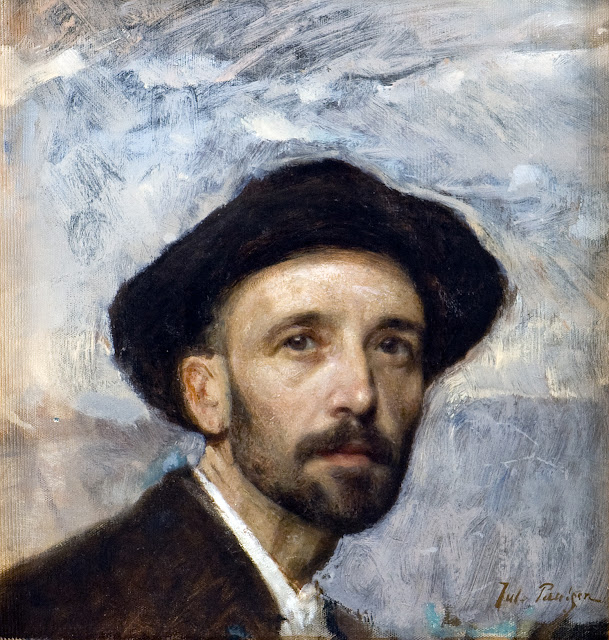Julius Paulsen, Self Portrait, Portraits of Painters, Fine arts, Portraits of painters blog, Paintings of Julius Paulsen, Painter Julius