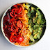 Rainbow salad bowl