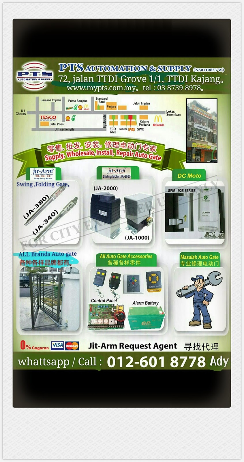 PTS: PTS Automation & Supply specialist in Auto Gate system